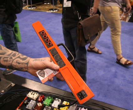 Winter Namm Show 2015: Temple Audio Pedalboards Outside