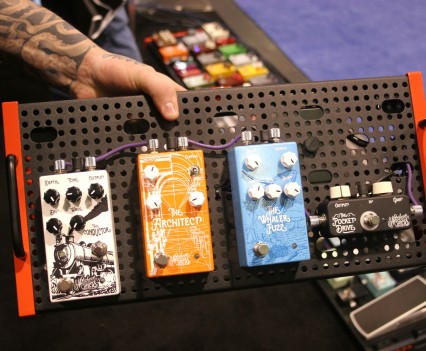 Winter Namm Show 2015: Temple Audio Pedalboards Top